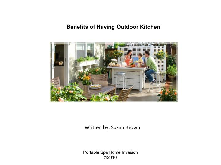 Benefits of Having Outdoor Kitchen