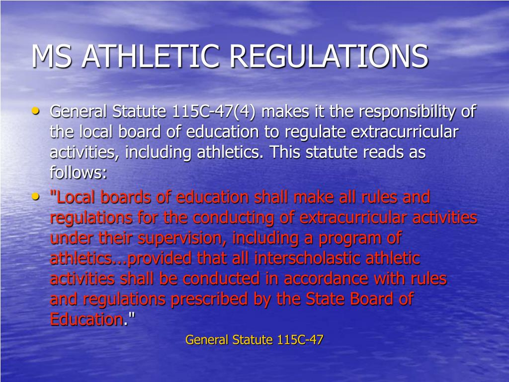 MS ATHLETIC REGULATIONS