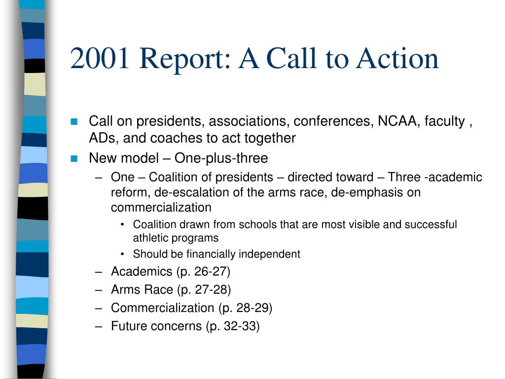 2001 Report: A Call to Action
