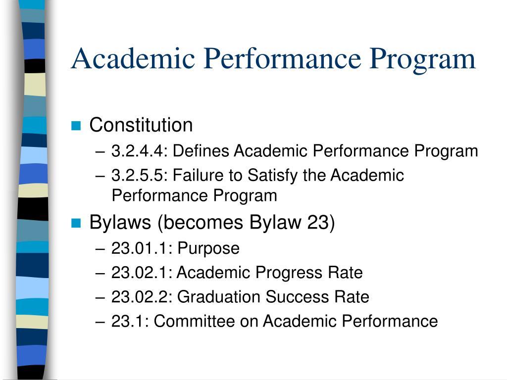 Academic Performance Program