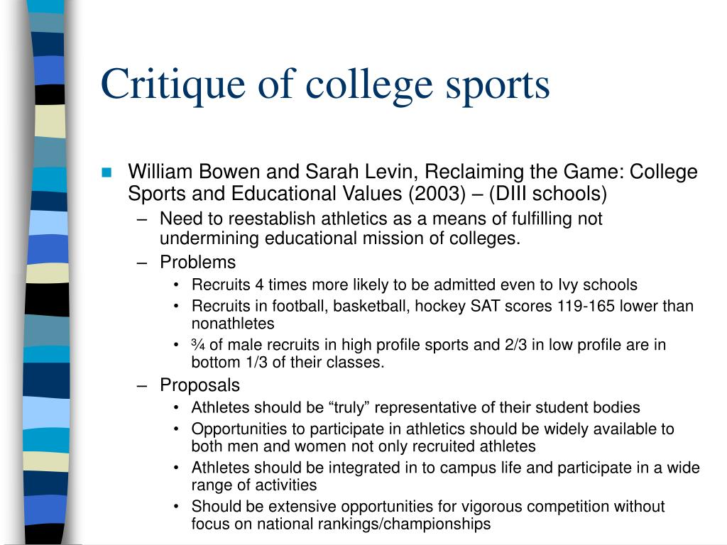 Critique of college sports