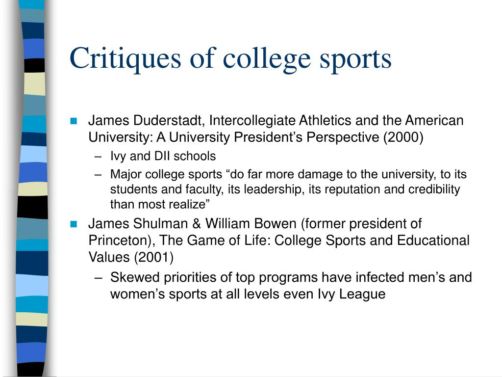 Critiques of college sports