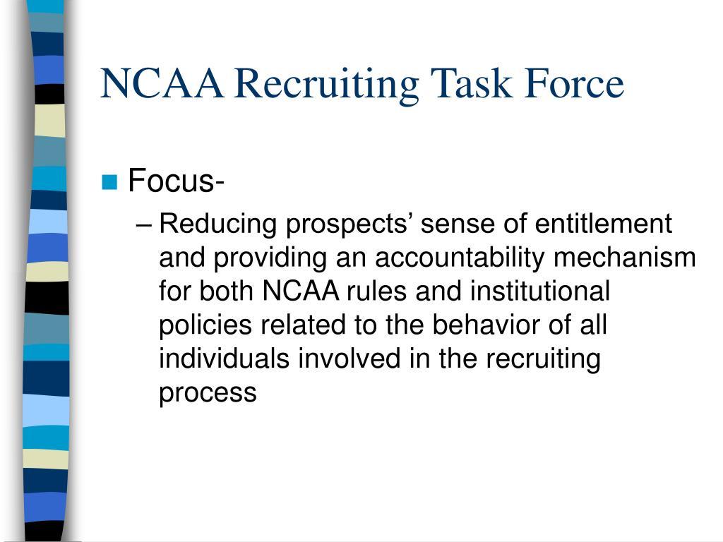 NCAA Recruiting Task Force
