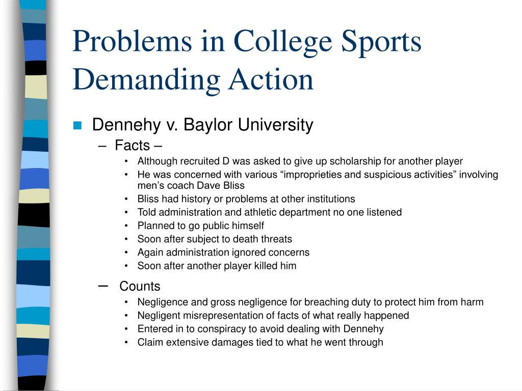 Problems in College Sports Demanding Action