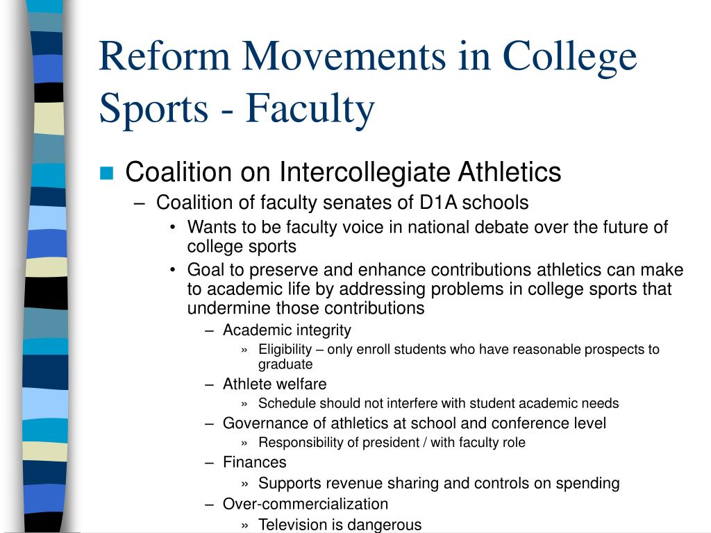 Reform Movements in College Sports - Faculty