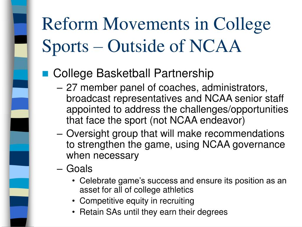 Reform Movements in College Sports – Outside of NCAA