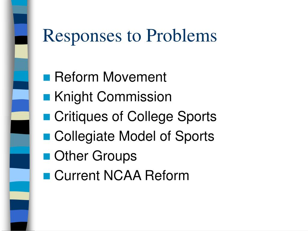 Responses to Problems