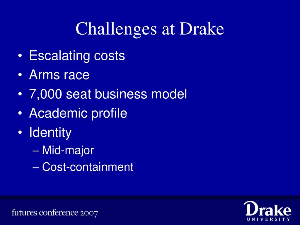 Challenges at Drake