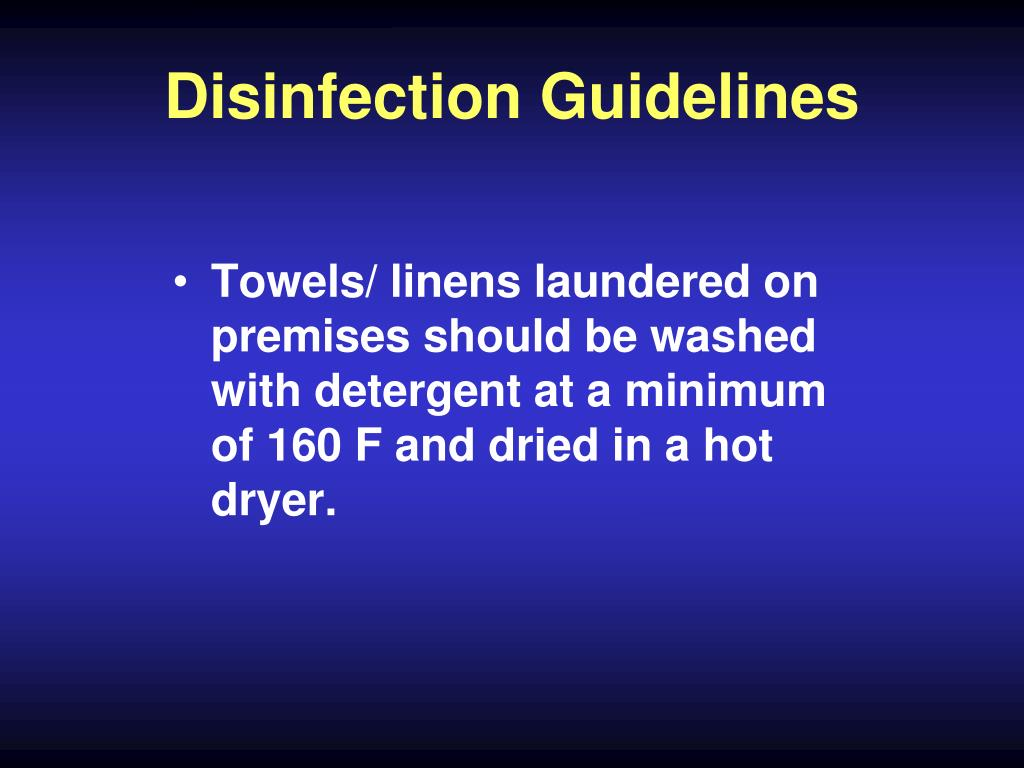 Disinfection Guidelines