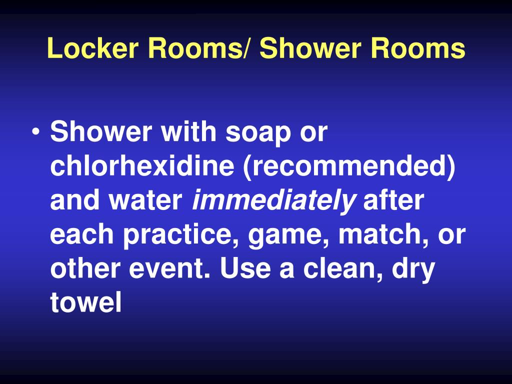 Locker Rooms/ Shower Rooms