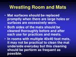 wrestling room and mats