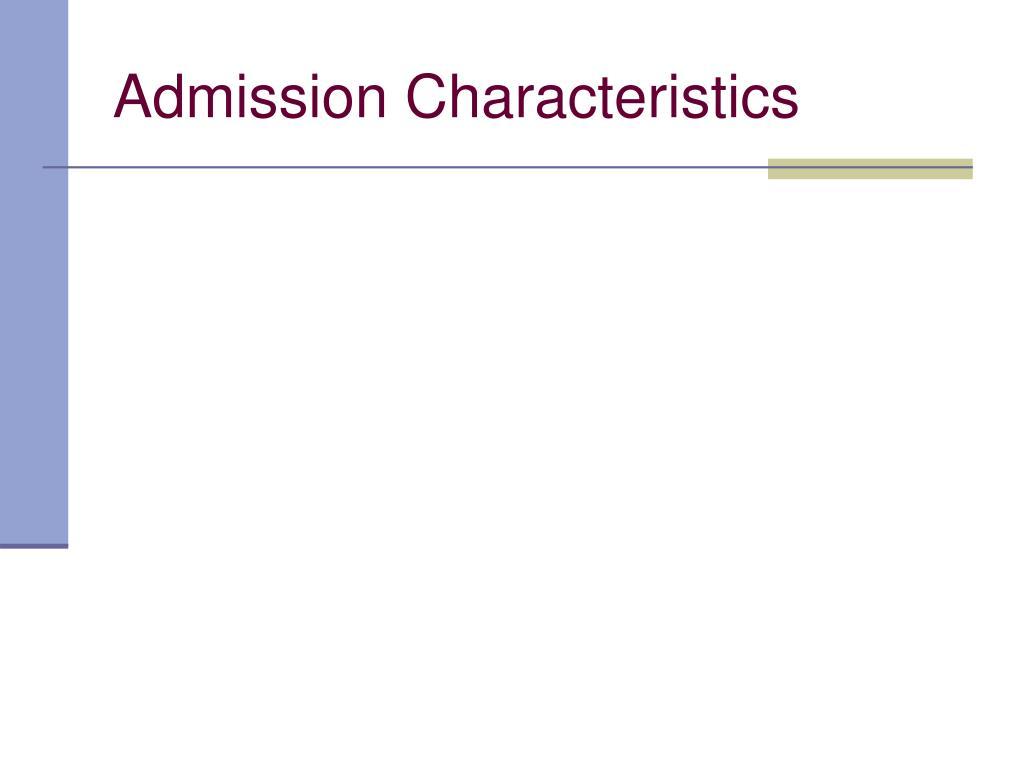 Admission Characteristics