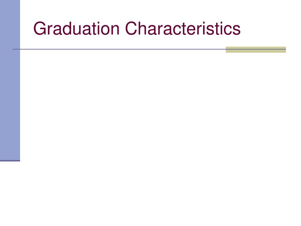 Graduation Characteristics