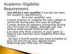 academic eligibility requirements12