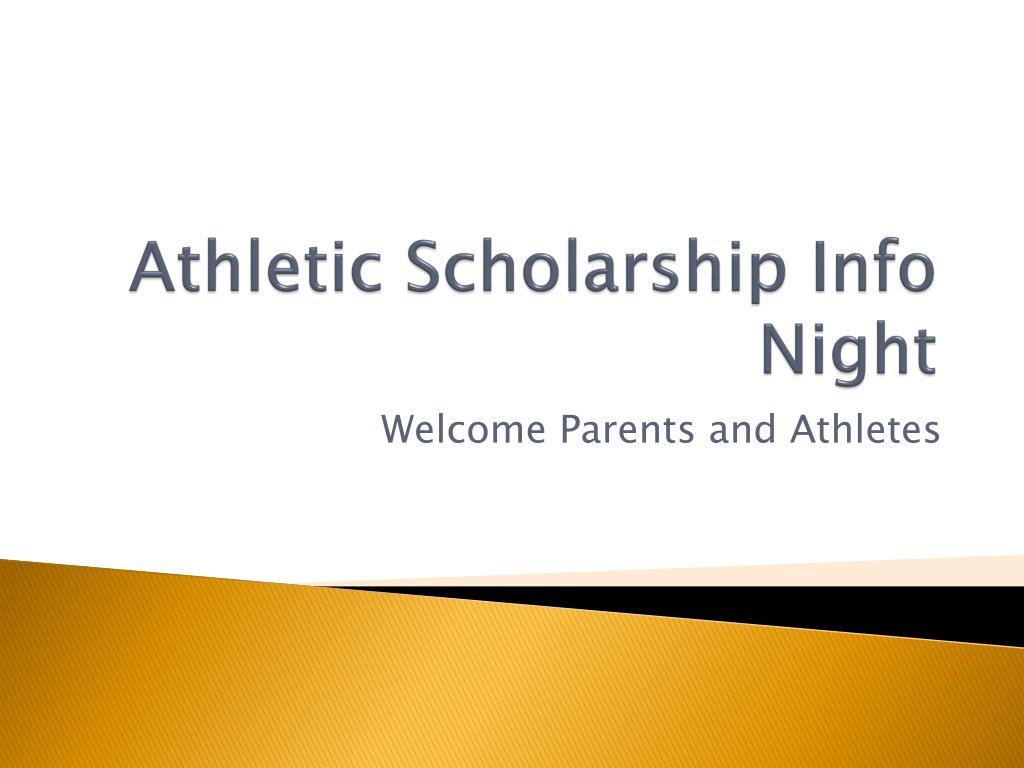 Athletic Scholarship Info Night