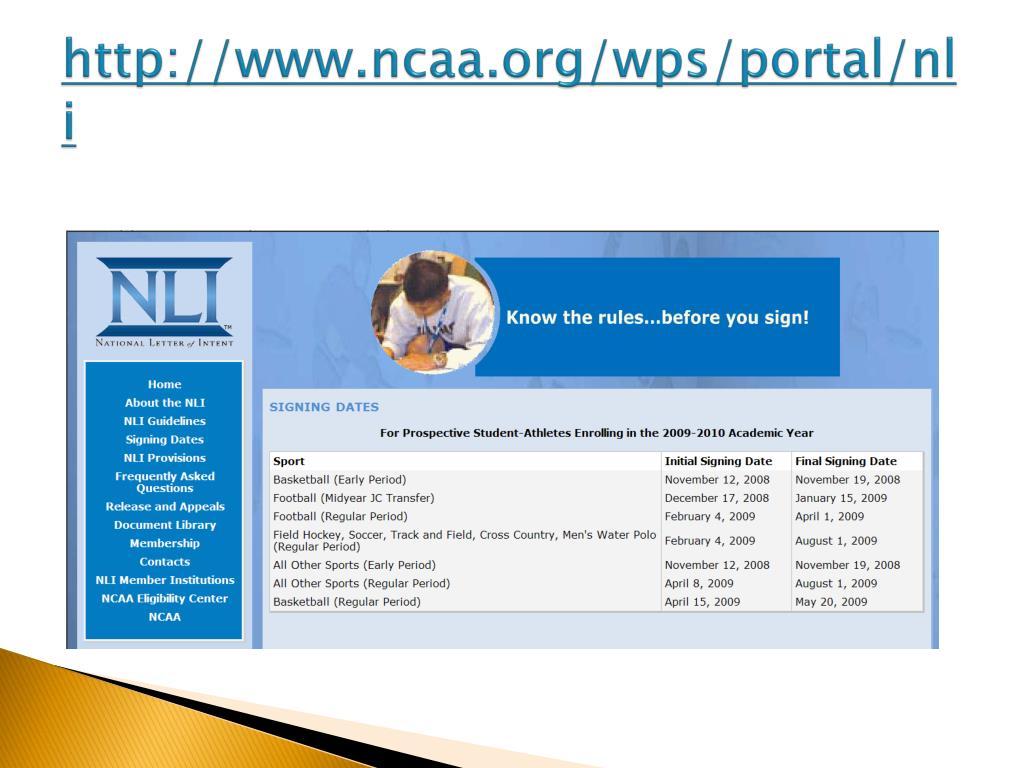 http://www.ncaa.org/wps/portal/nli