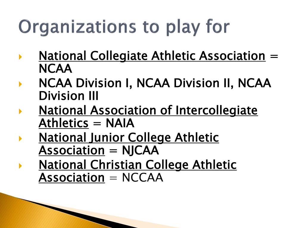 Organizations to play for