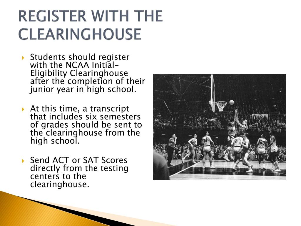 REGISTER WITH THE CLEARINGHOUSE