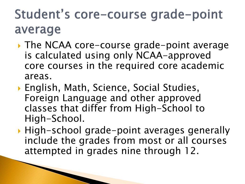 Student's core-course grade-point average
