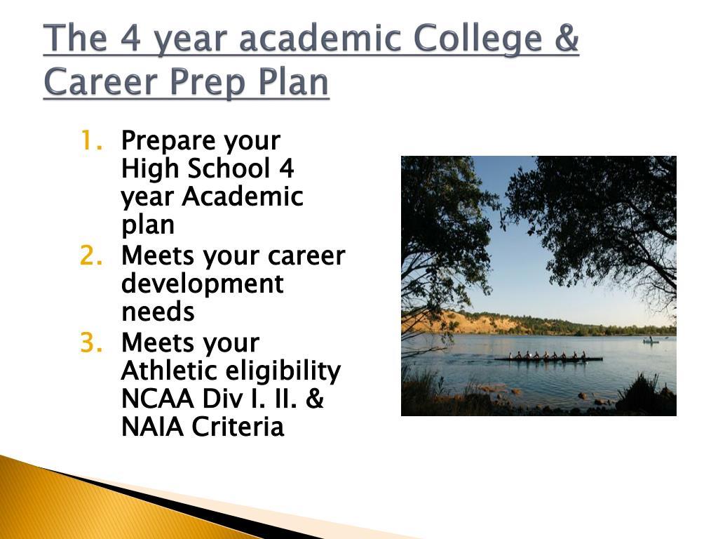 The 4 year academic College & Career Prep Plan