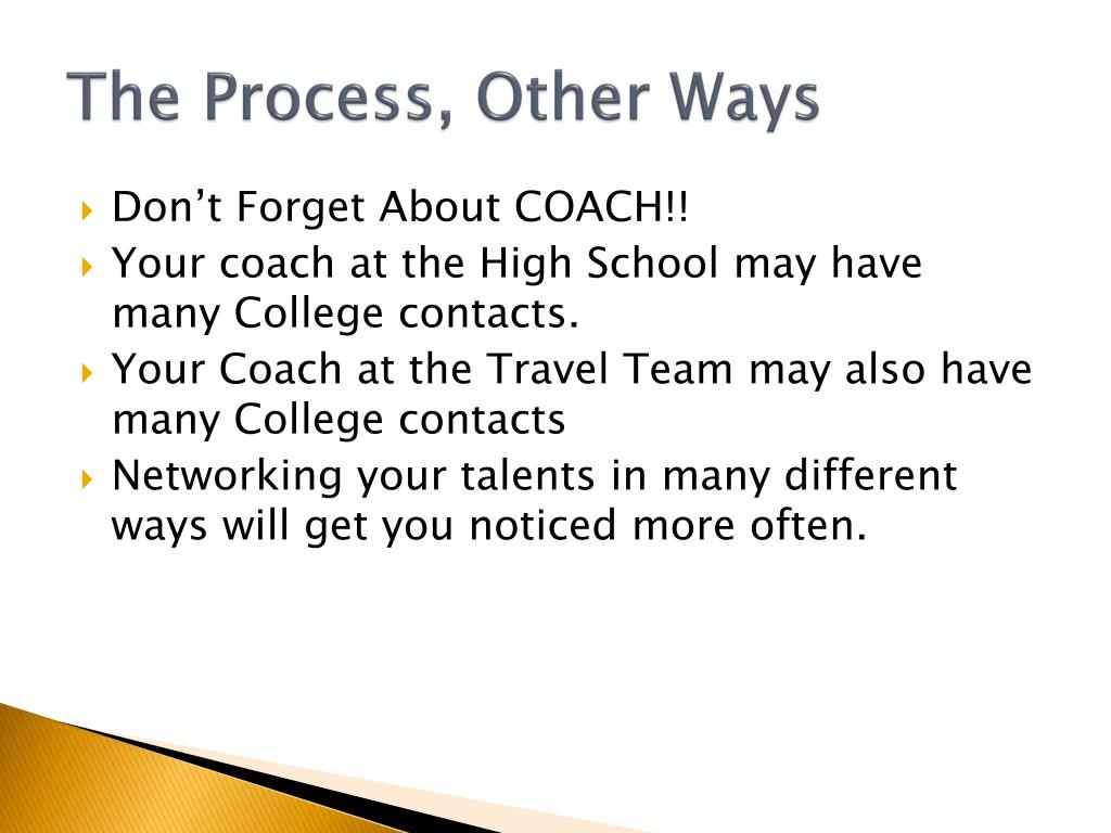 The Process, Other Ways
