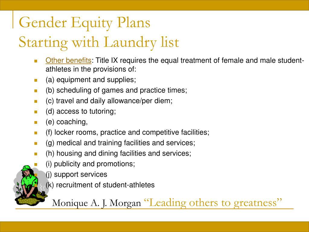 Gender Equity Plans
