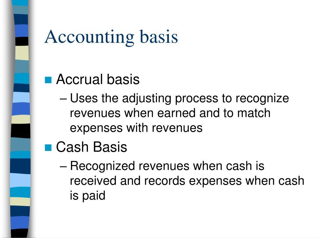 Accounting basis