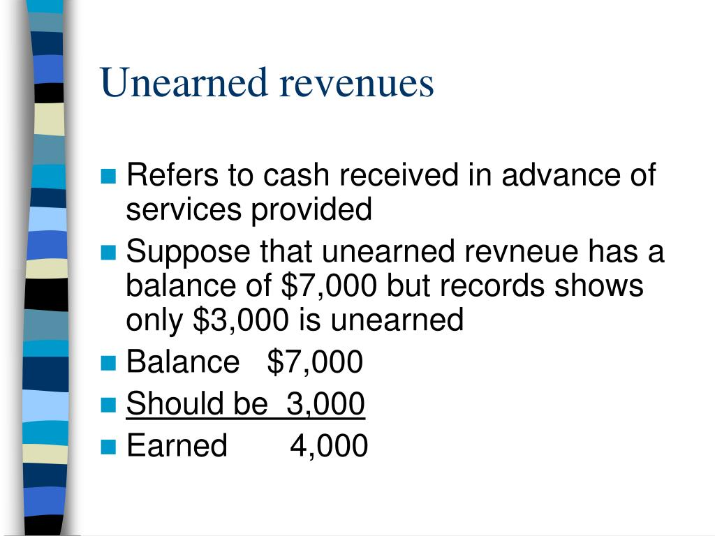Unearned revenues