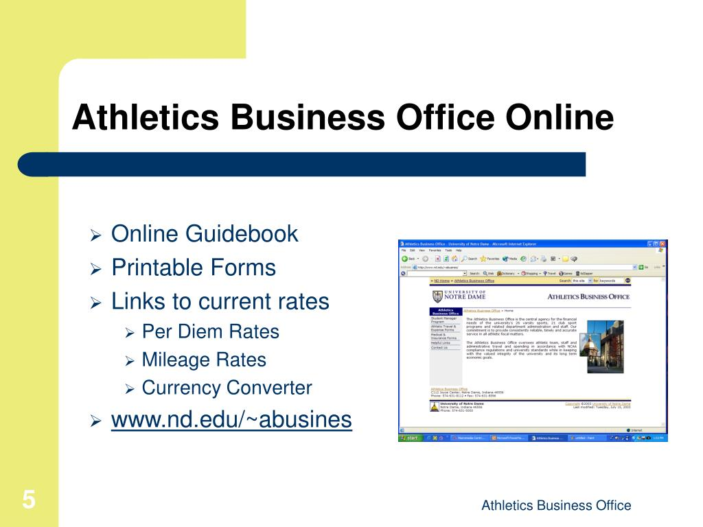 Athletics Business Office Online