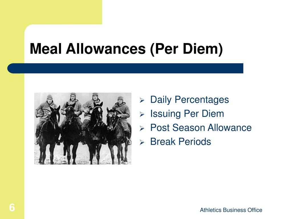 Meal Allowances (Per Diem)