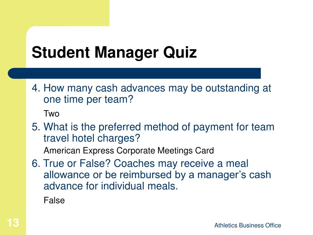 Student Manager Quiz