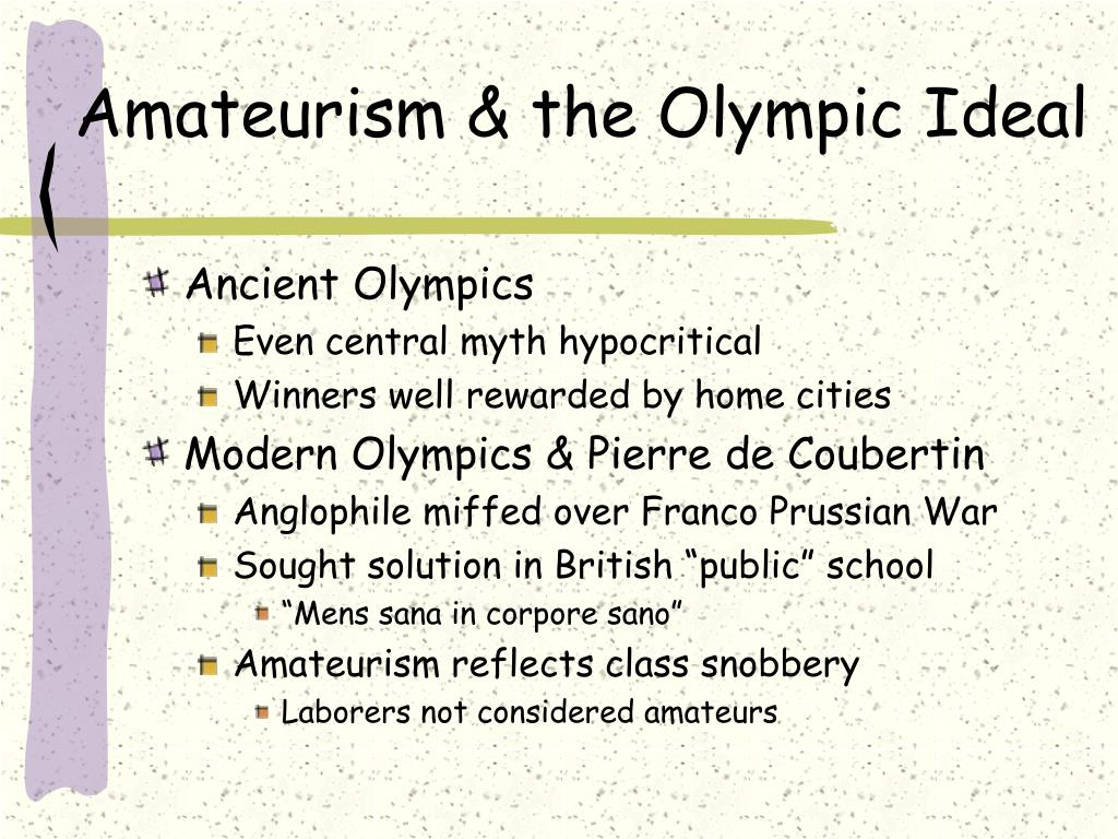Amateurism & the Olympic Ideal