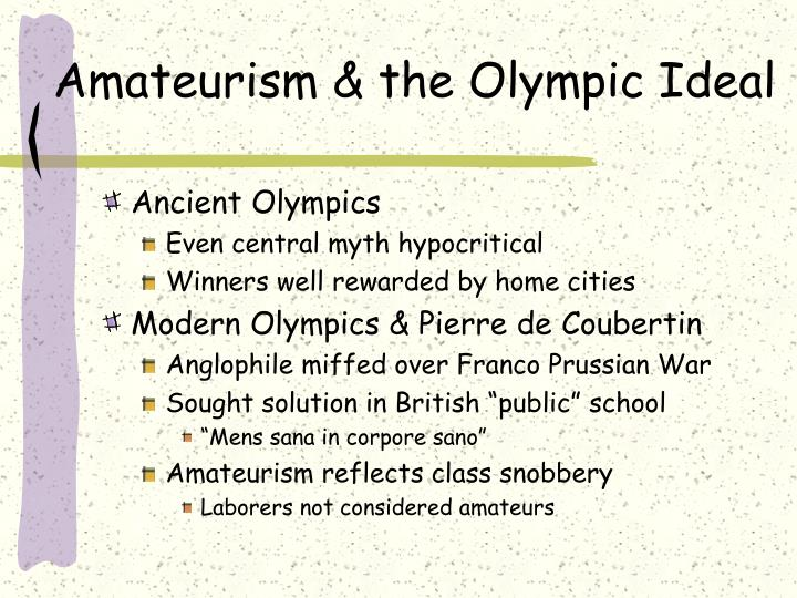 Amateurism the olympic ideal
