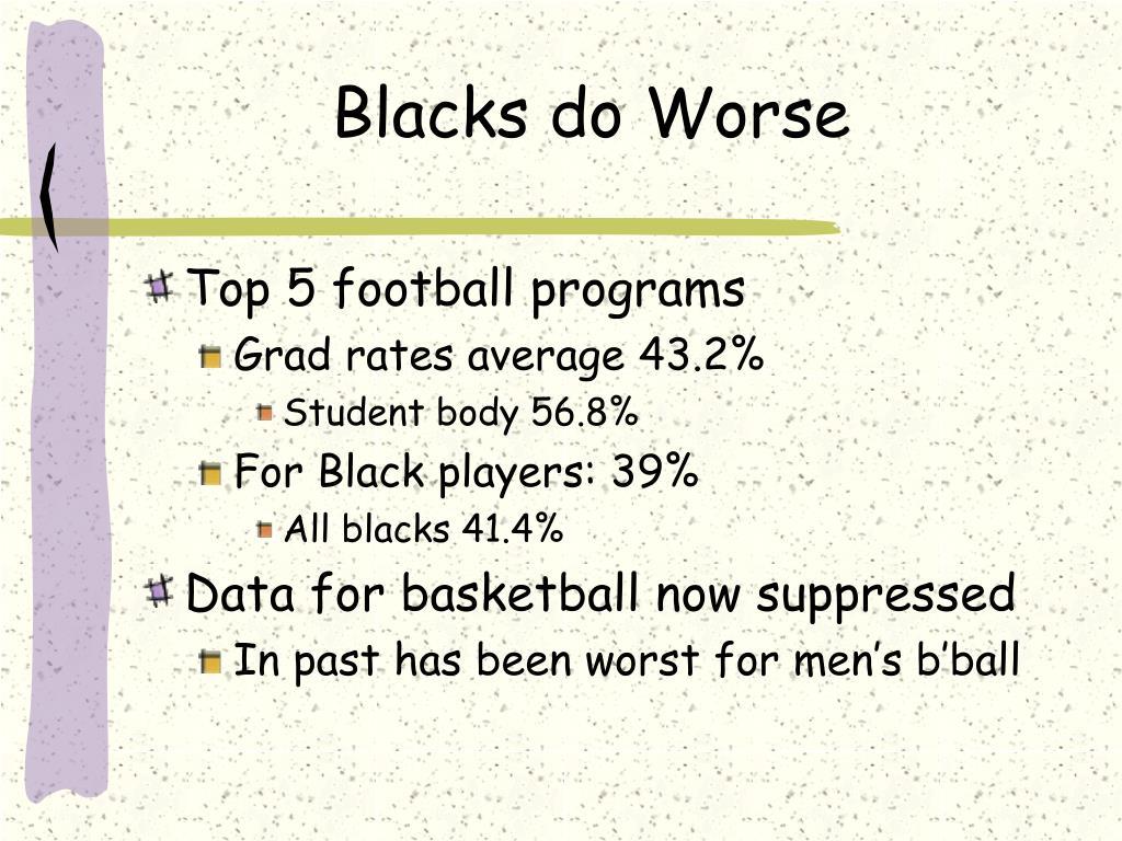Blacks do Worse