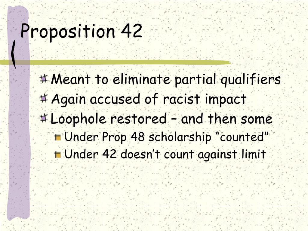 Proposition 42