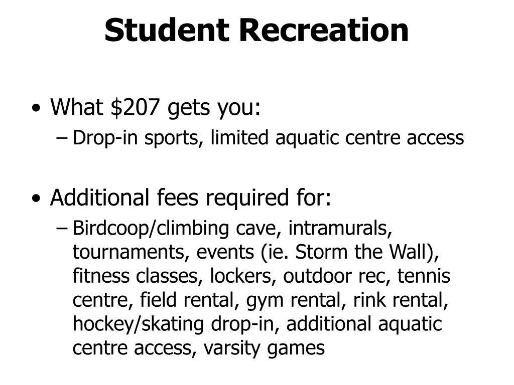 Student Recreation
