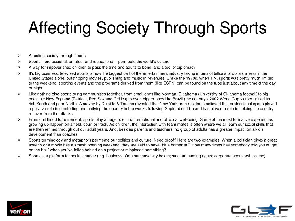 Affecting Society Through Sports