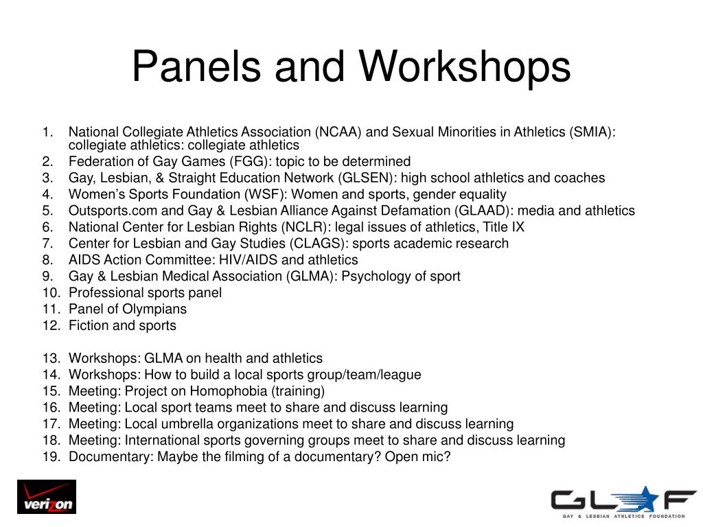 Panels and Workshops