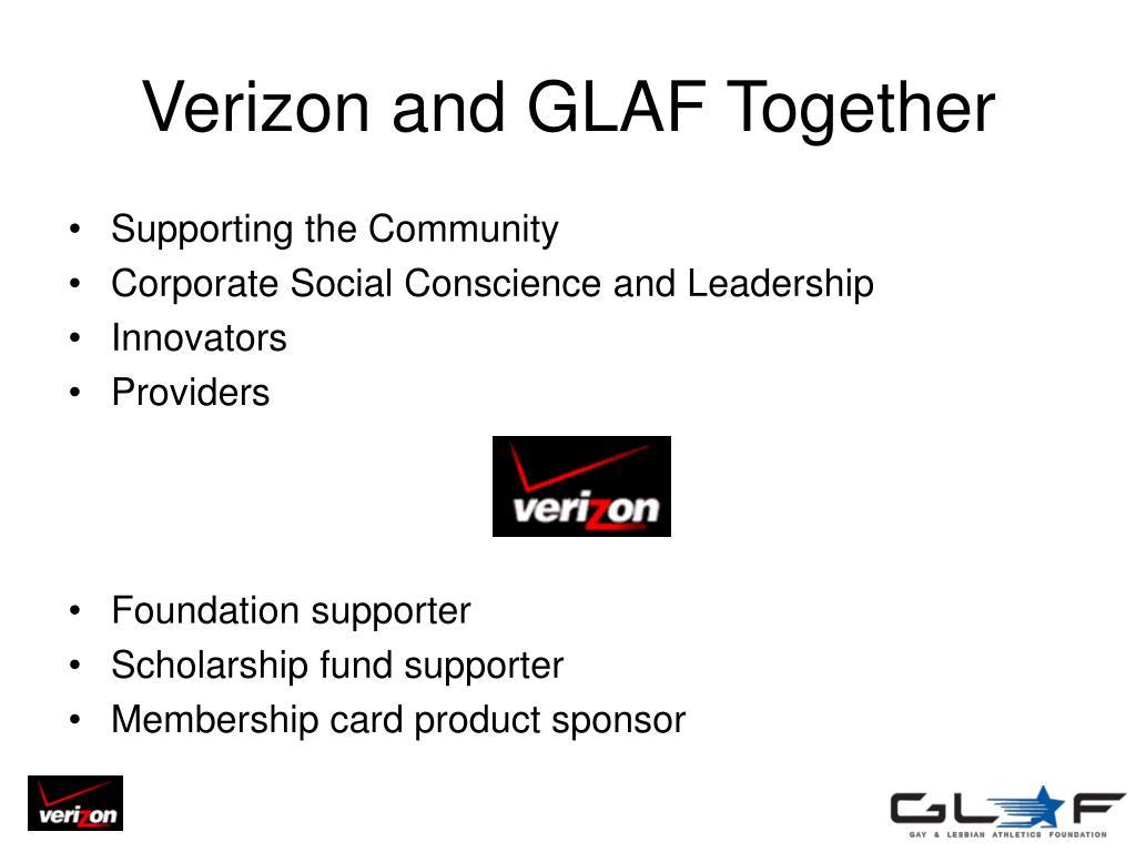 Verizon and GLAF Together