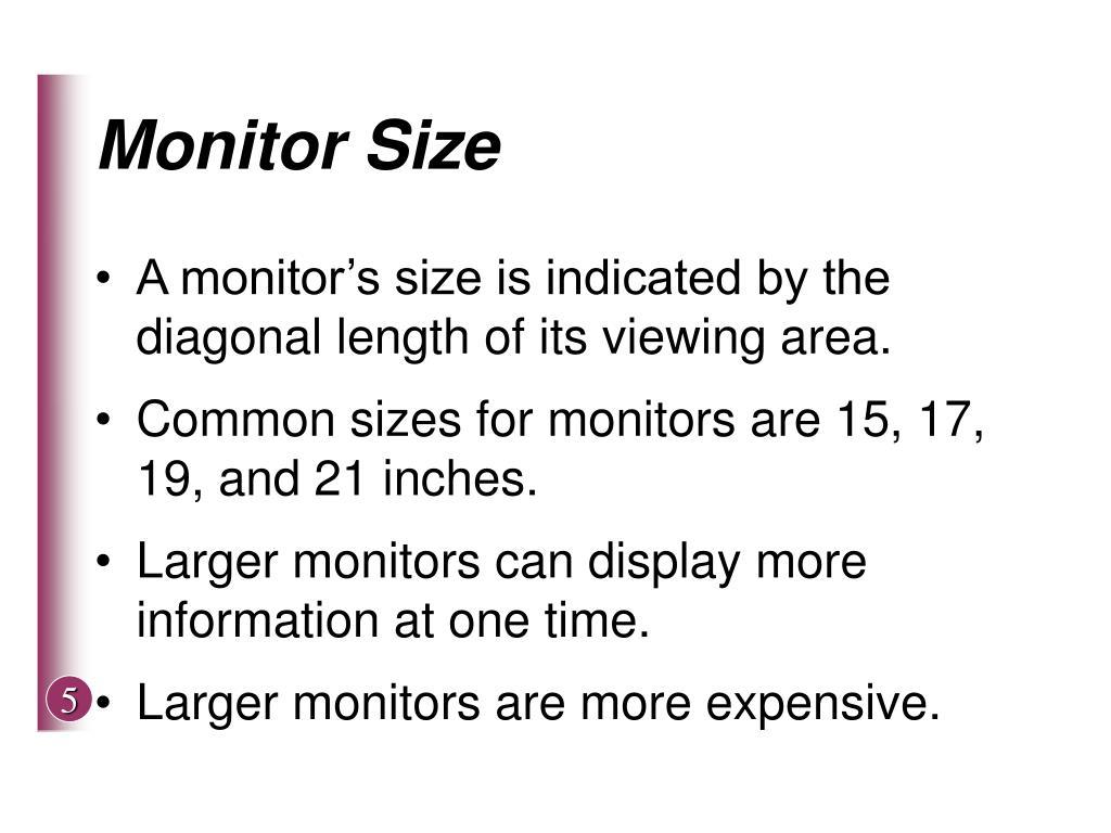 Monitor Size