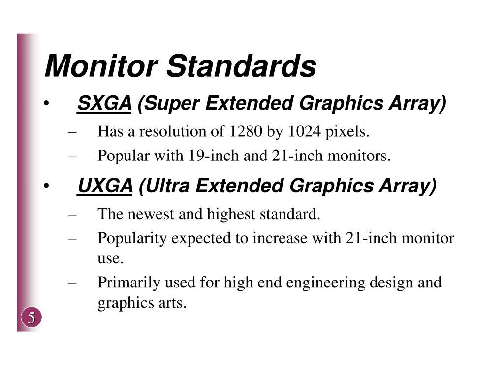Monitor Standards