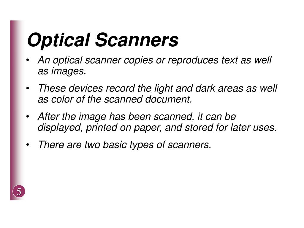 Optical Scanners