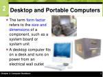 desktop and portable computers