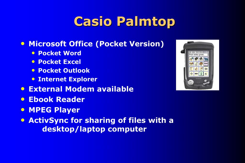 Casio Palmtop