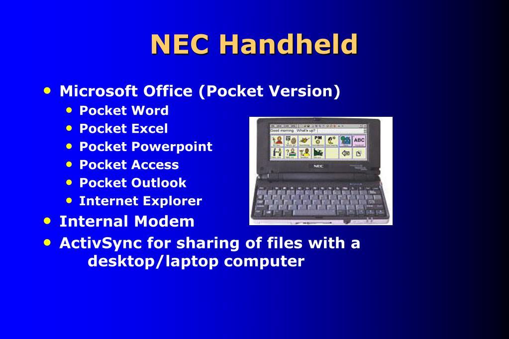 NEC Handheld