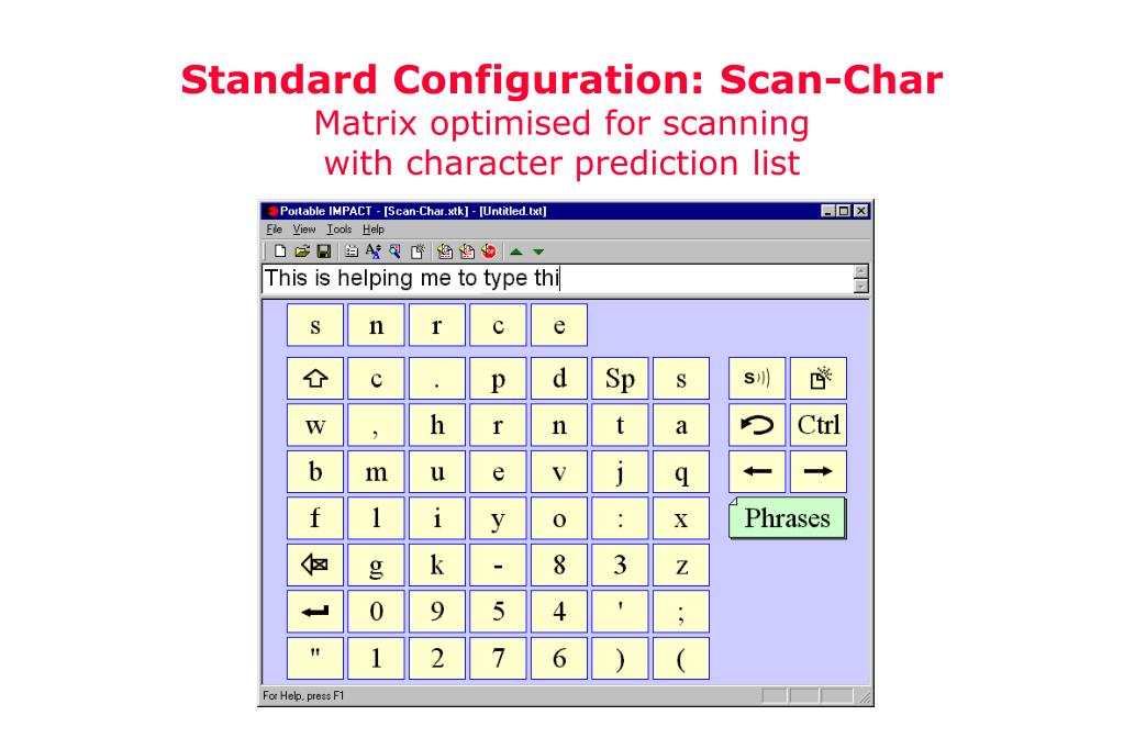 Standard Configuration: Scan-Char