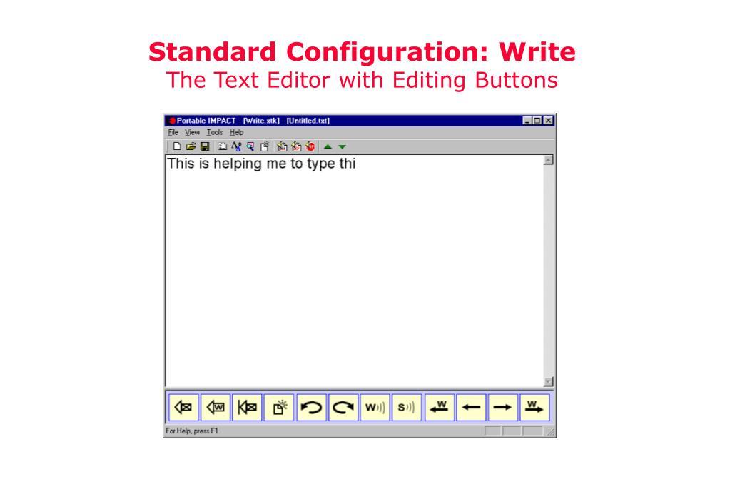 Standard Configuration: Write
