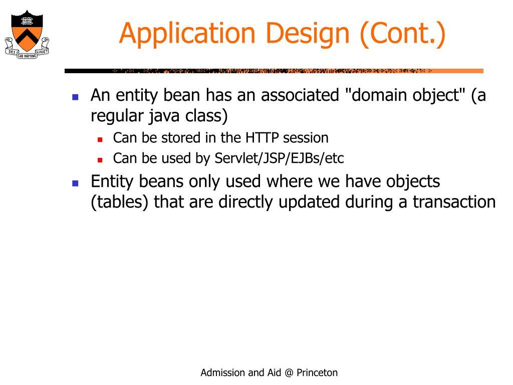 Application Design (Cont.)