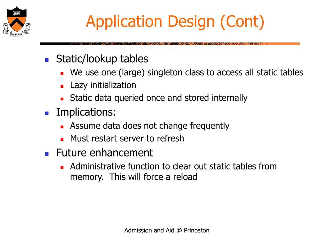 Application Design (Cont)
