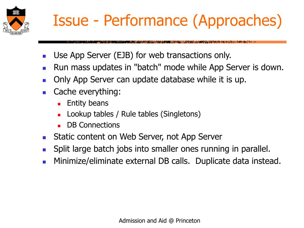 Issue - Performance (Approaches)